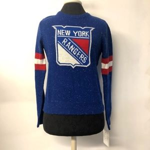 NWT New York Rangers NHL Graphic Knit Sweater